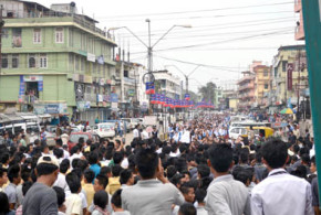 Lightning protest against rape throws Dimapur out of gear