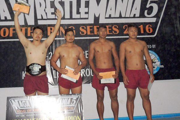 The winners of Heavyweight championship of Naga Wrestle Mania 5 on Friday.