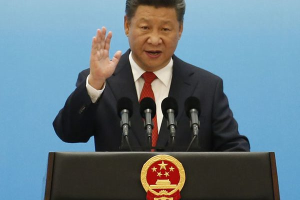 "(FILES) This file photo taken on September 3, 2016 shows China's President Xi Jinping speaking during the opening ceremony of the B20 Summit prior to the G20 Summit in Hangzhou. China's ruling Communist Party declared its General Secretary Xi Jinping the ""core"" of its leadership on October 27, the official Xinhua news agency reported, elevating his already powerful status. / AFP PHOTO / POOL AND AFP PHOTO / ALY SONG"