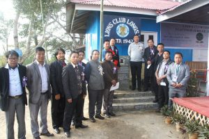 (Top right) Advisor-to chief minister Merentoshi R Jamir and others are seen here after unveiling the platinum jubilee monolith of Lion's Club at Longsa village in Mokokchung) on Wednesday, January 11.