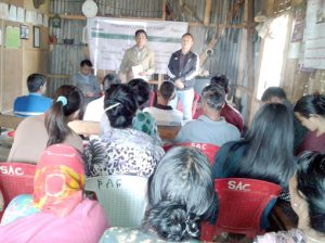 The Digital Financial Literacy awareness program in progress at Chubayimkum village on February 24 in Mokokchung.