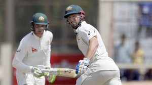 Australia, who began their second innings 152 runs adrift of the hosts, were in deep trouble after being reduced to 63-4 in Ranchi before Peter Handscomb (72 not out) and Shaun Marsh (53) put on 124 for the fifth wicket.