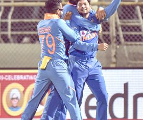 Rohit, Rahul score hundreds; Kuldeep takes hat-trick in India's big win