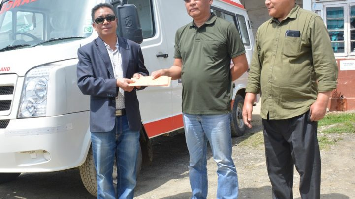 Zunheboto district receives ambulance