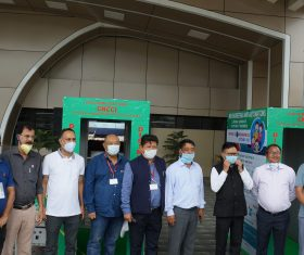 Disinfection booths ready at Dimapur railway station