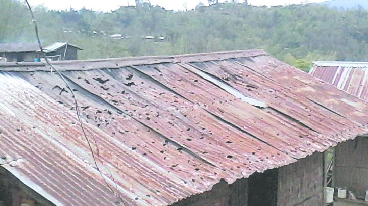 More than 500 houses damaged by hailstorms under Pungro sub-division