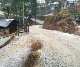 Heavy downpour, hailstorm lash Nagaland's Zunheboto district