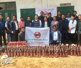 Illegal drugs and banned substances destroyed in Nagaland's Mon district