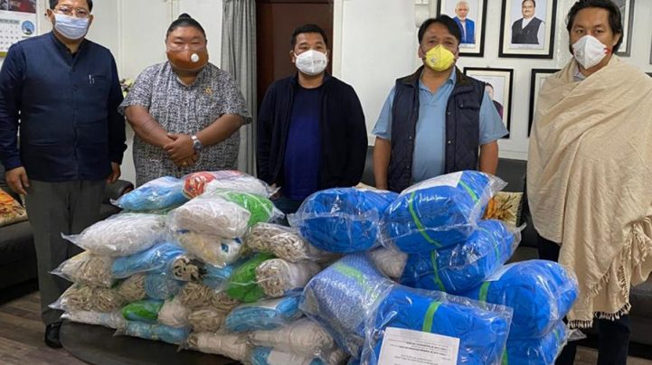 Minister hands over PPE for Mokokchung