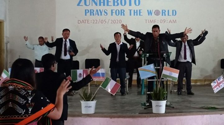 As the world continues to battle against Covid-19, Zunheboto prays for protection