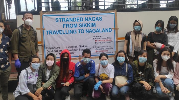 15 stranded persons from Sikkim reach Nagaland