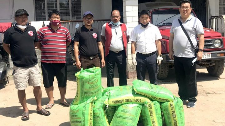 Covid-19 Rice-for-Needy: 154 households in Tuensang helped