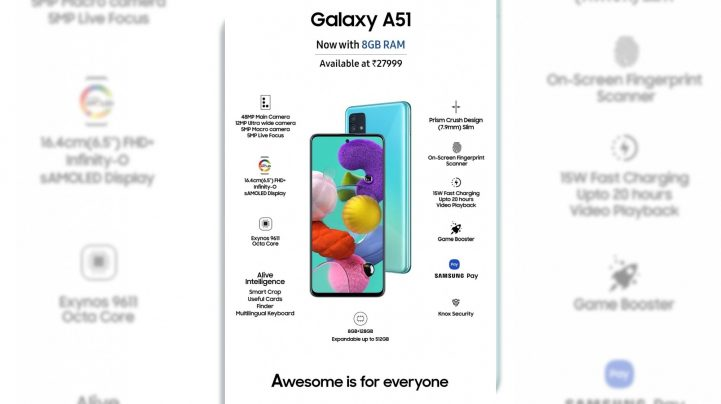 Samsung launches new Galaxy A51 variant at INR 27,999
